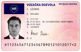Croatian Driver's Licence Translation