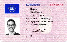 Danish Driver's Licence Translation