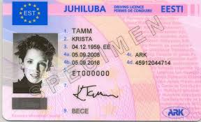 Estonian Driver's Licence Translation