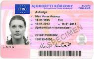 Finnish Driver's Licence Translation