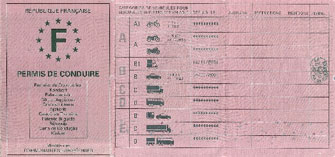 French Driver's Licence Translation