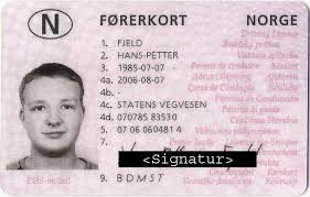 Norwegian Driver's Licence Translation