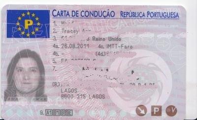 Portuguese Driver's Licence Translation