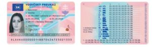 Slovak Driver's Licence Translation