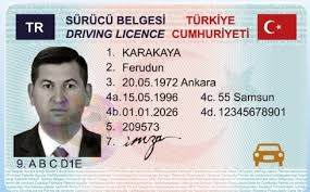 Turkish Driver's Licence Translation