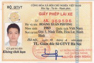 Vietnamese Driver's Licence Translation